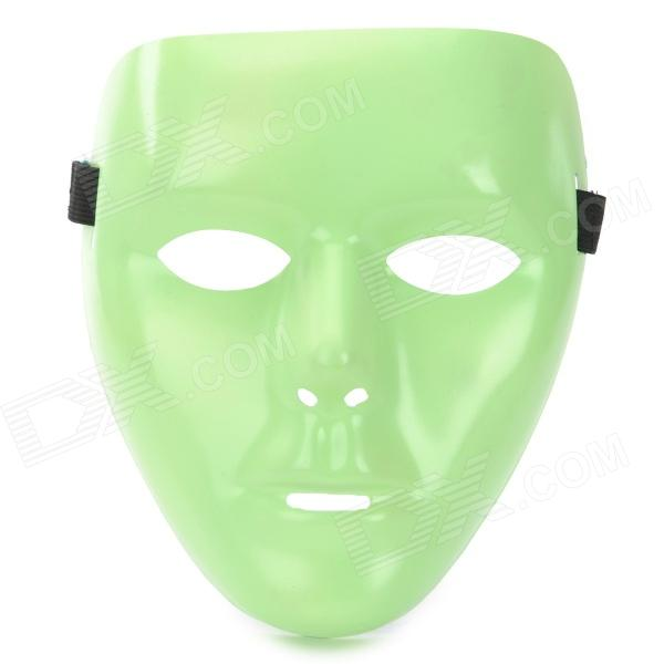 Noctilucent PVC Hip-Hop Mask for Men - Green