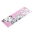 XSKN Color Dog Screen Printing Keyboard Membrane Film for Apple MacBook - Pink + Black + White