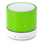 S08 Mini Bluetooth V3.0 Speaker w/ FM Radio / Mic / TF Slot - Green + White