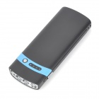 S-What Solar Powered 2600mAh Power Bank w/ Flashlight for Iphone / Ipod - Black + Blue