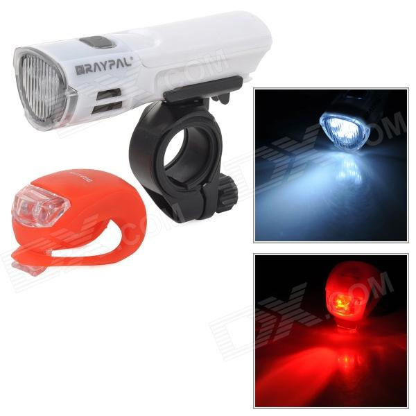 RAYPAL 2225-1 3 Mode Cool White LED Bicycle Tube Light / Red LED Safety Tail Lamp - Red + White