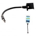 Flexible Neck Holder Micro USB Male to USB 2.0 Data Sync / Charging Cable for Samsung - Black (20cm)