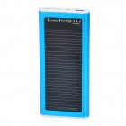 S-What Solar Powered 1200mAh External Battery Charger Power Bank for Iphone / Ipod - Blue