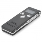"K60 Profesjonell 1"" LCD Digital Voice Recorder Pen - Black + sølv (DC 5V)"