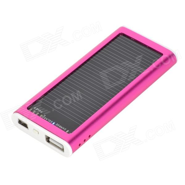 все цены на S-What Solar Powered 1200mAh External Battery Charger Power Bank for Iphone / Ipod - Deep Pink онлайн