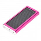 S-What Solar Powered 1200mAh External Battery Charger Power Bank for Iphone / Ipod - Deep Pink