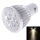 Lanya 4W 200lm, 3000K, 4-LED Warm White Light Energiesparende LED-Lampe - Weiß + Silber