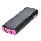 S-ce que 2600mAh Powered Solar Power Bank w / lampe de poche pour Iphone / Ipod - noir + rose profond