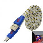 Woven Nylon Micro USB Male to USB 2.0 Male Data Sync / Charging Cable for Samsung Galaxy S3 / S4