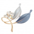 Fashionable Elegant Rhinestone Decoration Women's Brooch - Golden + Blue