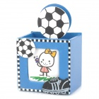 KTBT Wooden Cartoon Sports Football Style Pen Holder Container