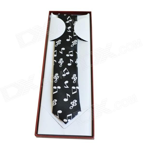 dedo-mg-362-music-symbols-design-boutique-gentleman-tie-black-silver-grey