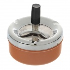 601-4 Creative Stainless Steel Spring Press Ashtray - Orange + Silver + Black