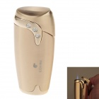 COHIBA H064B Small Oval Inlaid Rhinestone Windproof Butane Jet Flame Lighter - Golden