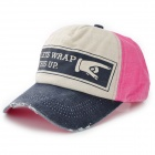 Stylish Casual Baseball Cap - Deep Blue + Pink