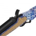 Fashion Blue and White Porcelain Handle Gun Super Fire Refillable Lighter - Blue + Black + Golden