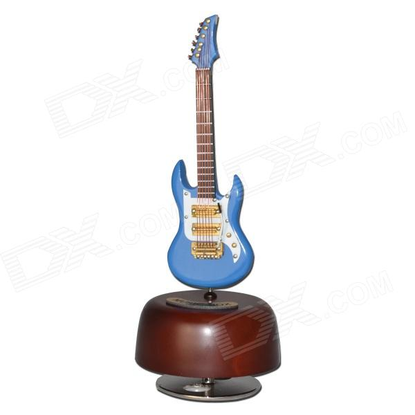 DEDO Music Gifts MG-308 Pure Handmade Rotating Guitar Music Box - Blue