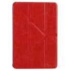 ENKAY ENK-3343 Multi-folding Protective PU Leather Case w/ Auto Sleep for Ipad MINI 1 / 2 - Red