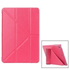 ENKAY ENK-3343 Multi-folding Protective PU Leather Case w/ Auto Sleep for Ipad MINI 1 /2 - Deep Pink