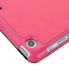 Multi-folding Protective PU Leather Case w/ Auto Sleep for Ipad MINI 1 /2 - Deep Pink