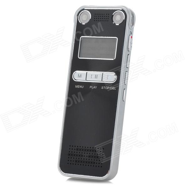 H-100 Professional Digital Voice Recorder w/ FM / Built-in Speaker - Black + Silver