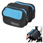 ROSWHEEL 12655 Convenient Durable 600D Dacron Top Tube Bag for Bicycle - Black + Blue