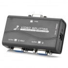 1-In 2-Out VGA HD Video Splitter - Black + White + Multi-Colored
