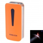 KINGLEEN QL-325 Universal-Stilvolle 5600mAh Lithium-Ionen-Energien-Bank Rohr w / LED - Orange