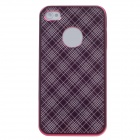 Ipai Iphone 4/4S Mirror Pattern The Ultra-thin Fashion Protective Case for Iphone 4 / 4s - Red