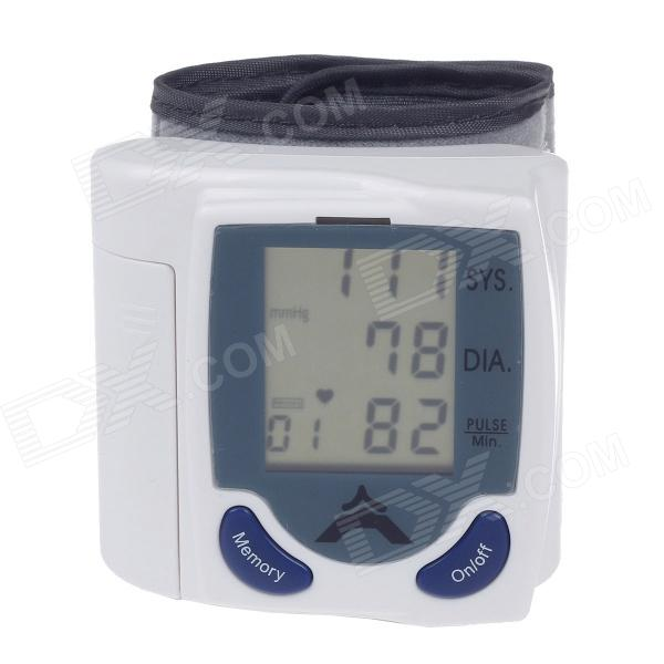 NEW VERSION 1.875 LCD Portable Automatic Wrist Watch Blood Pressure Monitor - White (2 x AAA) high quantity medicine detection type blood and marrow test slides