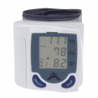 "NEW VERSION 1.875"" LCD Portable Automatic Wrist Watch Blood Pressure Monitor - White (2 x AAA)"