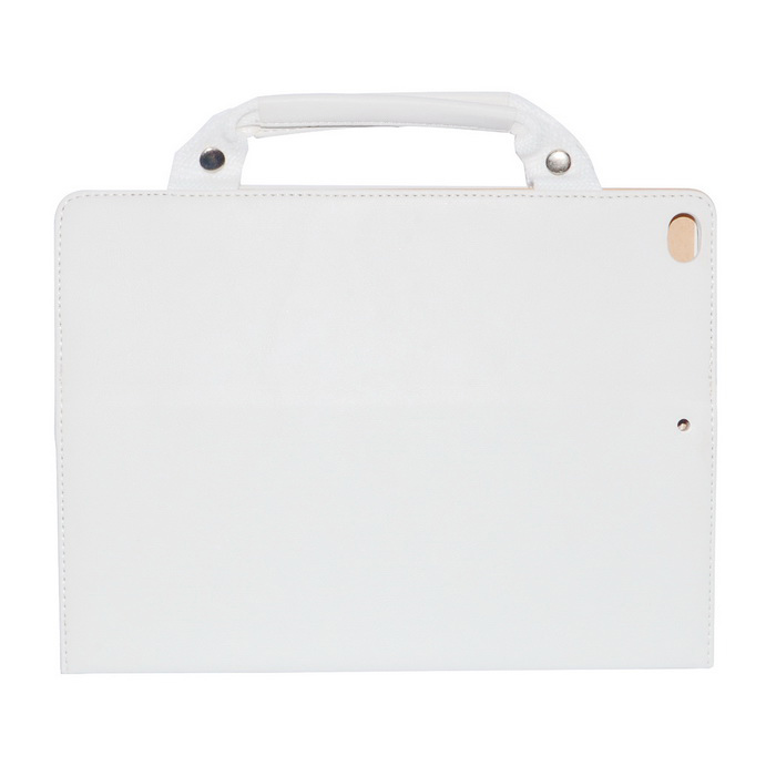 Protective PU Leather Case w /handbag/Peripherals pockets for Ipad AIR - White