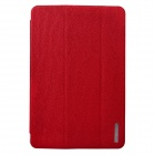 Angibabe 3-Folding PU Leather Case Cover Stand Wake Up / Auto Sleep for Retina Ipad MINI  - Red