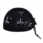 CHEJI Stylish Outdoor Bike Riding Head Scarf - Black