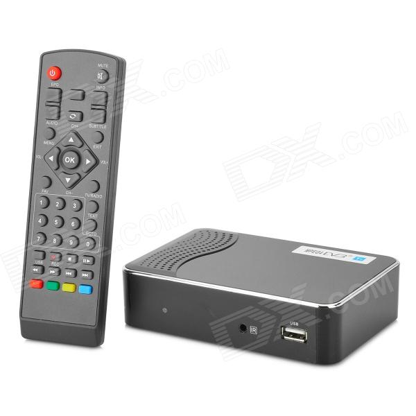 DVB-T2 DVB TV Receiver w/ Remote Controller - Black