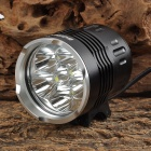BORUiT ZHG-6 6-LED 5200lm 4-Mode White Light Bicycle Lamp (4 x 18650)