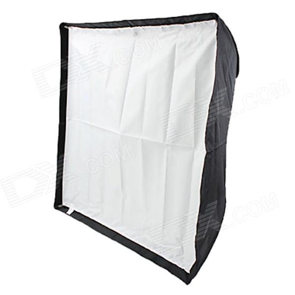 70 x 70cm Speedlight Flash Diffuser Reflective Umbrella Softbox - Black + White