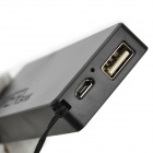Portable Ultra Thin 2400mAh External Power Bank for Iphone + Ipad + More - Black