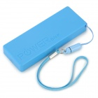 Portable Ultra Thin 2400mAh External Power Bank for Iphone + Ipad + More - Blue