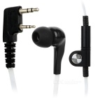 Universelle 3,5 mm + 2,5 mm In-Ear Ohrhörer für K-Stecker Walkie Talkie - White + Black
