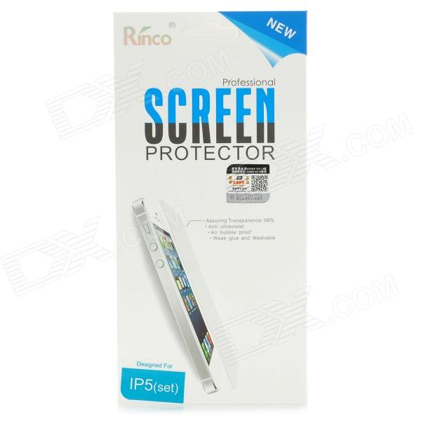 все цены на  Rinco NEW Protective Front + Back Shiny Clear Screen Guard for IPHONE 5 - Transparent  онлайн