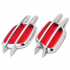 JM-620 Decorative Car Tuyere Style Sticker - Silver + Red (2 PCS)