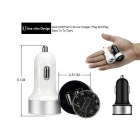 Universal Convenient 5V 2.1A / 1A Dual USB Output Car Charger - Black + Silver (12~24V)