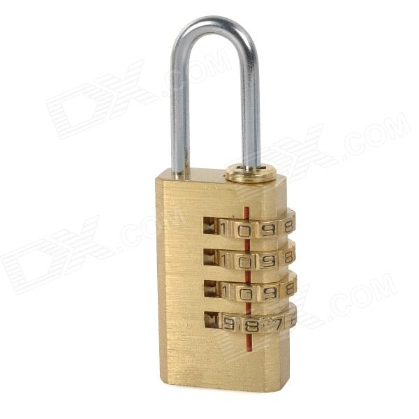 CJSJ 04K Convenient Anti-theft 4-number Combination Lock - Brass