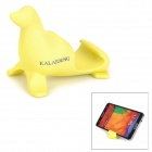 KALAIDENG Cute Sea Lion Style Universal PVC Stand for Cell Phone - Yellow