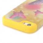 A-335 Butterfly Style Protective PC + Silicone Back Case for Iphone 5 / 5s - Yellow + Purple