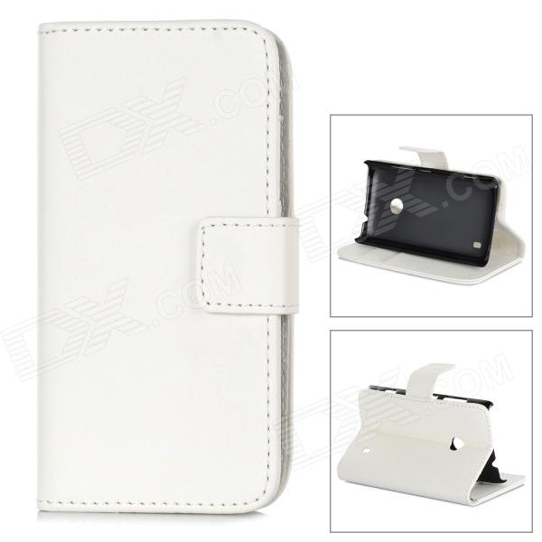 все цены на A-66 Protective PU Leather Case for Nokia Lumia 520 - White онлайн