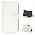A-66 Protective PU Leather Case for Nokia Lumia 520 - White