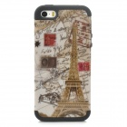 A-335 Eiffel Tower Style Protective PC + Silicone Back Case for Iphone 5 / 5s - Black