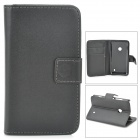 A-66 Protective PU Leather Case for Nokia Lumia 520 - Black